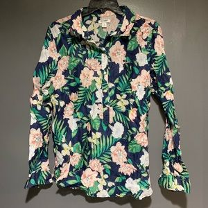 Old Navy Floral Blouse Woman's Large Tropical